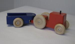 Opa's boeren tractor met kar