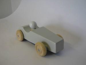 raceauto wit voorkant