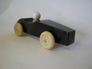 raceauto zwart