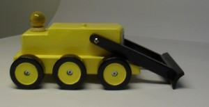 Mooie houten speelgoed shovel